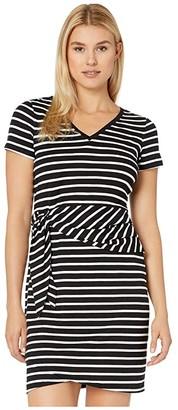 Tommy Bahama Sonoran Stripe Twist Short Sleeve Dress (Black) Women's Dress