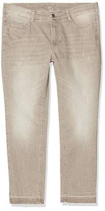 M·A·C MAC Jeans Women's Angela Pipe Fringe Glam Straight Jeans,W48/L29 (Size: 48/29)