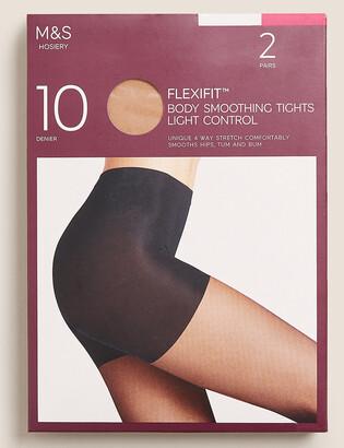 Marks and Spencer 2pk 10 Denier Light Control Sheer Tights