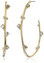 Alexis Bittar Jagged Crystal Studded Hoop Earrings