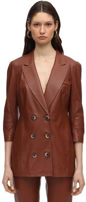 ZEYNEP ARCAY Wrapped Leather Blazer