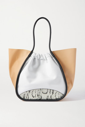 Proenza Schouler Xl Ruched Paneled Leather Tote - White