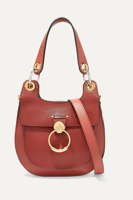 Chloé Tess Small Leather Shoulder Bag - Brown