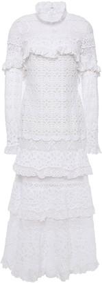 Jonathan Simkhai Ruffled Crocheted Midi Dress