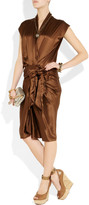 Lanvin Tiered leather and cork wedge sandals