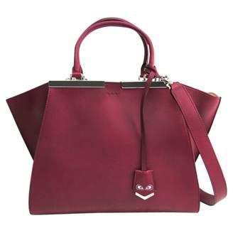 Fendi 3Jours Burgundy Leather Handbags
