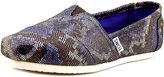 Toms Classics Blue Leather Snake 10006161 Women's 7.5