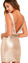 LuLu*s Shine Time Rose Gold Sequin Dress