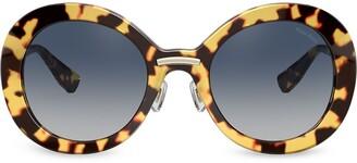 Miu Miu Tortoiseshell Tinted Sunglasses