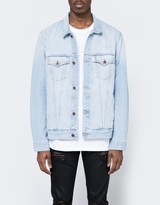 Off-White Scorpion Denim Jacket Bleach White