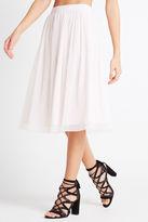 BCBGeneration Pleated Midi Skirt - White