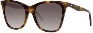 Celine Cat-Eye Monochromatic Acetate Sunglasses
