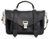 Proenza Schouler Tiny Ps1+ Grainy Leather Satchel - Black