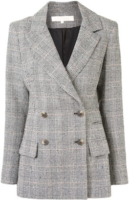 By Any Other Name Double Breasted Check Blazer