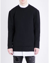 Helmut Lang 3d Logo Neoprene Sweatshirt