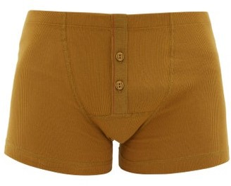 Hemen Biarritz - Albar Ribbed Organic Cotton-blend Boxer Briefs - Yellow