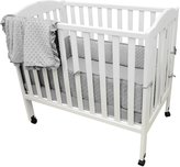 American Baby Company Heavenly Soft 3 Pc Mini Crib Bedding Set - Minky Dot Gray