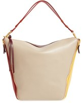 Mulberry 'Camden' Colorblock Smooth Leather Hobo - Grey