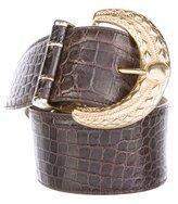 Oscar de la Renta Crocodile Waist Belt