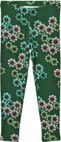 Mini Rodini Dark Green Daisy Leggings