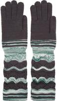 Missoni Crochet-knit wool-blend gloves