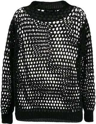 DSQUARED2 Loose Crochet Knitted Jumper