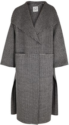 Totême Houndstooth Wool And Cashmere-blend Coat