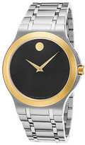 Movado 0606960 Men's Stainless Steel Black Dial Gold-Tone Bezel