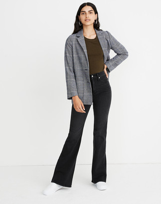 """Madewell Petite 11"""" High-Rise Flare Jeans in Bankside Wash"""