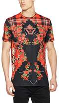 Jaded London Men's Tartan Roses Print T-Shirt