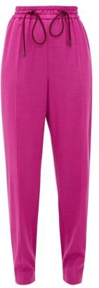 Roksanda Palmira Knotted Wool-blend Trousers - Dark Pink