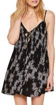 Amuse Society Baja Lace-Up Swing Dress