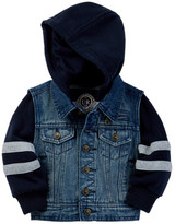 Urban Republic 100 Woven Cotton Denim Jacket (Baby Boys)