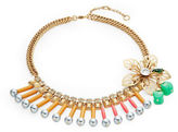 Gerard Yosca Floral Beaded Statement Necklace
