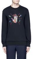 Lanvin Hand embroidered cotton sweatshirt