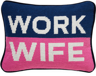 Jonathan Adler Work Wife Needlepoint Personality Pillow