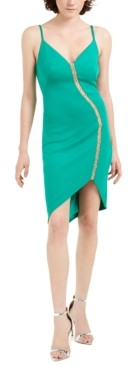 SHO V-Neck Sleeveless Illusion Dress