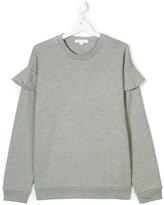 Burberry ruffled detail sweatshirt