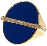 Trina Turk Pave Bar Enamel Oval Ring - Size 7