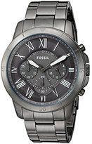 Fossil Mens FS5256 Grant Sport Chronograph Smoke Stainless Steel Watch
