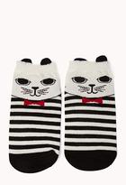Forever 21 Cat Attack Ankle Socks