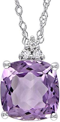 Rina Limor Fine Jewelry 10K 1.78 Ct. Tw. Diamond & Amethyst Pendant Necklace