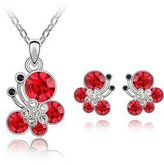 SparkleDust Jewelry Sets Crystal Butterfly Pendant Necklace Earrings Set Made With Swarovski Elements