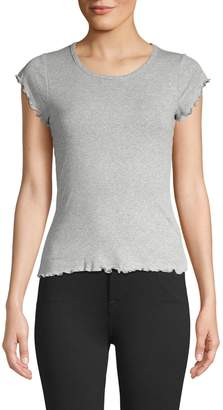 Chaser Ruffled Cotton Tee