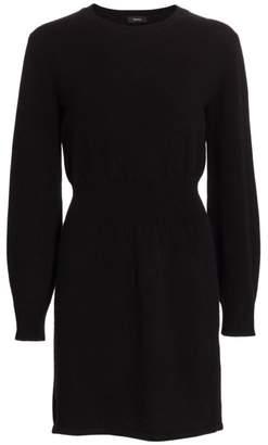 Theory Rib-Waist Wool & Cashmere Dress