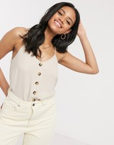 New Look button down cami in stone
