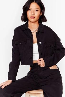 Nasty Gal Womens Smells Like Jean Spirit Cropped Denim Jacket - Black - S