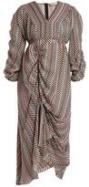 Preen by Thornton Bregazzi Monica Hammered-silk Checked Dress - Womens - Black Multi