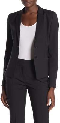 HUGO Afrona Dot Wool Blend Blazer