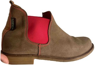 Noon Goons Beige Suede Ankle boots